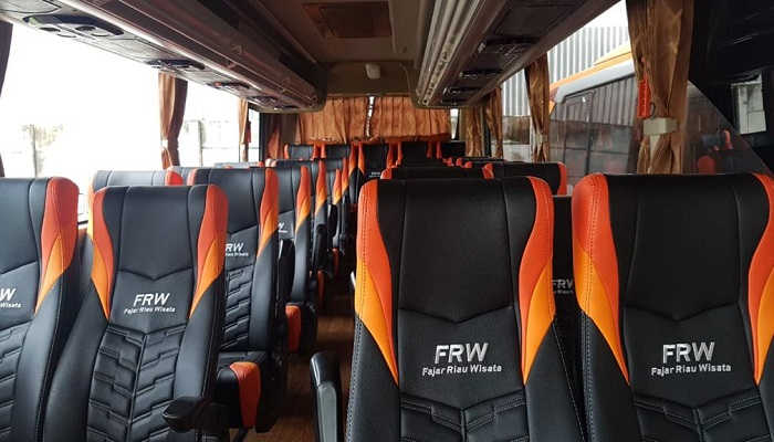 Interior Rental Bus Pekanbaru